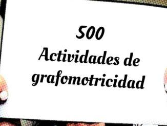 Cartel de Actividades de grafomoticidad