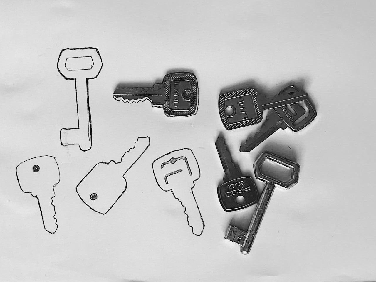 llaves y silueta