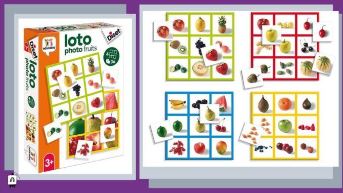 juego de bingo con imagenes de frutas