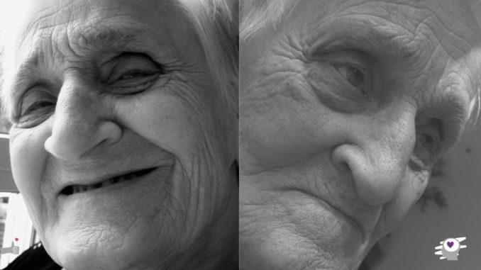 dos emociones de una anciana