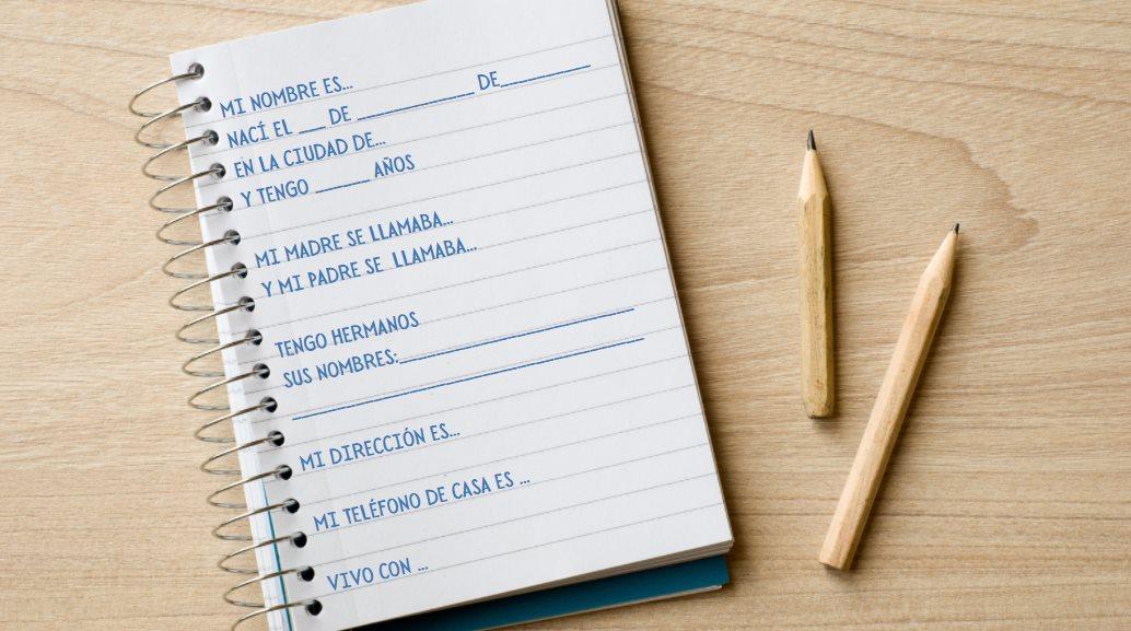cuaderno escrito